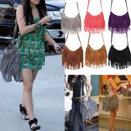 Wholesale New Fashion Celebrity Bags Women Tassel Fringe Cross Body Bag Shoulder Messenger Handbag BAG TOTES Lady Cross Body Shoulder Bag BAG