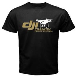 Promotion dji inspirer drone T-shirts pour hommes de la vente en gros DJI Pilot Drone pilotes classiques pilotes UAV Inspire dji Phantom 3 Drone T-shirts manches courtes
