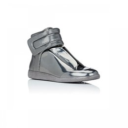 Wholesale 11 Advance Sale Excellent Quality Maison Martin Margiela Future Hi top Mens Metallic Glossy Casual Shoes