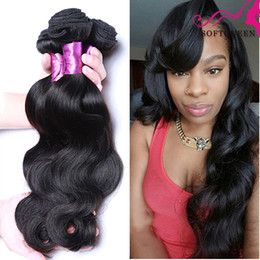 Amazing Indian Virgin Hair Body Wave 7a Raw Indian Hair Products 4 Bundles Indian Body Wavy Hair No Tangle No Shedding Natural Black