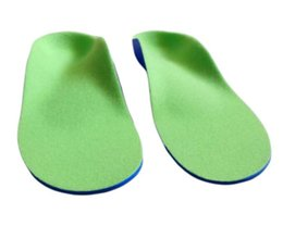 Wholesale 2016 New flatfoot arch support orthopedic sole feet care9 size PU foam kids orthotic insole for children baby shoes