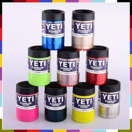 Wholesale 12oz YETI Cooler Stainless Steel Double Wall Vacuum Insulated Thermos Beverage Cooler oz YETI Rambler Tumbler Colors