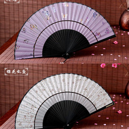Wholesale Vintage Silk Bamboo Hand Fans For Cool Bridal Accessories Fans With Pretty Scenic Views Party Gifts Arts Crafts