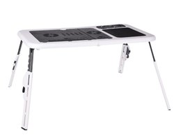 High quality Laptop Table Foldable Desk Laptop Stand with 2 USB Cooling Fans Mouse Pad Zone Portable for Sofa Bed Floor