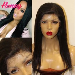 Brazilian Silky Straight Human Hair Wigs 130denisty Glueless Full Lace Human Hair Wigs Straight Lace Front Wigs For Black Woman