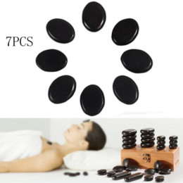 Wholesale Promotion set Massage Hot Stones Massage Lava Natural Stone Set Hot Spa Rock Basalt Stone Health Care Black
