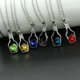 Drift Bottle Necklace Ceystal Rhinestone Pendant Necklaces Summer Lover Jewelry Drift Bottle High End Wishing Bottle