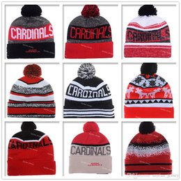 Wholesale Football Red Arizona Beanies Winter High Quality Cardinals Beanie For Men Women Skull Caps Skullies Knit Cotton Hats