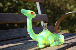Wholesale Dino water pipes Glass Water Pipes Dino Rig with slyme color high end quality