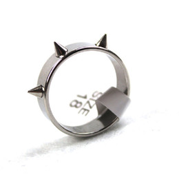 New 36 pieces polished silver punk style Spiked stainless steel mens womens fashion rock party jewelry rings