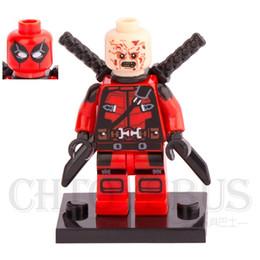Wholesale Armor Deadpool Double Face Wade Wilson X MEN Apocalypse Super Heroes Model Minifigures Building Blocks Kid Toys Gifts