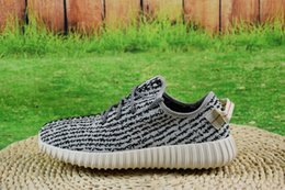 Wholesale 2016 Best Boost Turtle Dove Running Shoes shoes Cheap Kanye West Sports shoes mens sneakers women With Box
