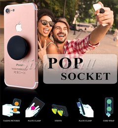 Wholesale 2016 Newest Colorful Universal Phone Holder Popsockets Air Expanding Stand Grip For iphone Samsung Smartphone And Tablets Pop sockets