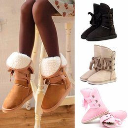 Wholesale Sale New Hot Fashion Women Winter Warm Mid calf Snow Cold Weather Boots Shoes plush winter ankle boots women shoes Snow boots