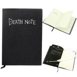Wholesale 200pcs Japan Anime Death Note Cosplay Notebook Feather Pen Writing Journal Anime Theme Diary Record Notebook Notepads