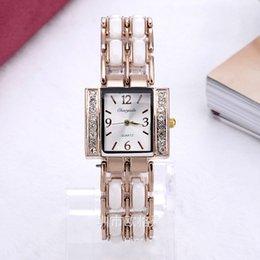2017 regarder rose d'or Hot vente robe de Lady Montre femme dama reloj métal Montres Strass Montre-bracelet Rose Montres d'or pour les femmes d'expédition libre regarder rose d'or promotion