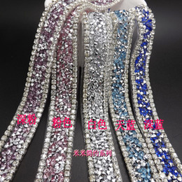 free ship,wedding crystal rhinestone banding trim,2yards lot,fancy bridal dress decorative trim,wedding cake decorative chain