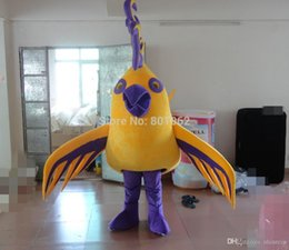 Wholesale Ohlees Actual Picture Yellow Phoenix Mascot Costumes Character For Halloween Party Activity Fancy Christmas Adult Size dress