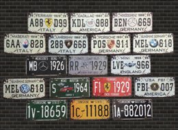 Wholesale Car License Tin Metal Painting Vintage Retro Craft Tin Sign Antique Iron Poster Bar Pub Signs Wall Art Sticker Home Decoration