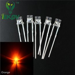 High Quality 1000pcs bag 3MM Flat Top Orange Amber leds Urtal Bright Wide Angle light Emitting Diode Electronic Components Wholesale Retail