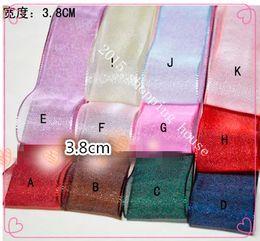 Wholesale Sewing supplies m mm Hair Bow Hair Flower DIY material MM thick snow yarn nylon belt ribbon
