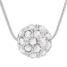 Fashion Accessories For Women Crystal Necklace Pendants Made with Swarovski Elements Necklace Short Chain 18k White Gold Plated 5927