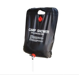 Wholesale Outdoor Shower Water Bag Portable L Gallon Shower Bag Camping Hiking Solar Heated Shower Bag Wonderful Travel Kits