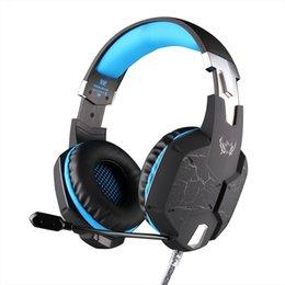 EACH G1100 fonction de vibration professionnel casque casque jeux casque avec microphone stéréo basse respirant lumière LED pour téléphone PC Gamer Vente à partir de jeu casque professionnel fournisseurs