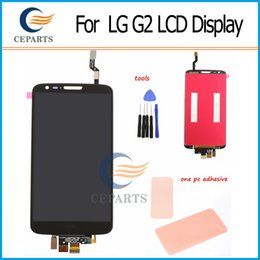 Wholesale White Black Original LCD Screen display touch digitizer assembly replacement for LG G2 D800 D801 D802 D803 D805 F320 VS980 tools Adhesive