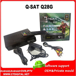 Wholesale qsat q28g powervu q sat q28g hd gprs receiver open English and French channels and Dvb T2 combo q sat q28g by dhl