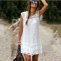 Sexy Women Summer Casual Lace Sleeveless Party Evening Cocktail Plus Size Dresses Beach Mini Dress Casual Dresses
