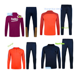 Wholesale Training Wear Soccer tracksuits Best quality survetement football training suit sweat soccer jogging football pant