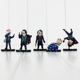 3.5-6cm Marvel Heroes The Joker with tag PVC Action Figure Collectable Model Toy for kids gift free shipping