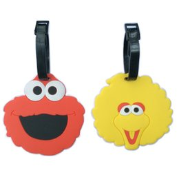 Wholesale 2 x Sesame Streets ELMO BIG BIRD Luggage Tag Travel Bag suitcase Name Holder SCHOOL Badge Q