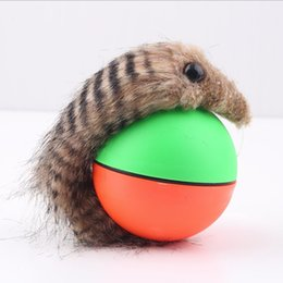 Wholesale Popular New Dog Cat Weasel Motorized Funny Rolling Ball Pet Appears Jump Moving Alive Toy
