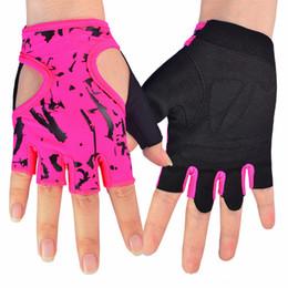 Wholesale-Fitness Gloves for Women Female Gloves Body Building for Dumbbell Cycling Fingerless Gloves Sports Free shipping