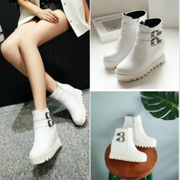 2015 new style women boots for fall winter white platform ankle boots and Martin Knight boots large size women's shoes