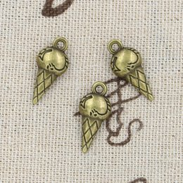 Wholesale 120pcs Charms ice cream mm Antique Making pendant fit Vintage Tibetan Bronze DIY bracelet necklace