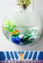 Wholesale 2016 new Arcylic Wall Mounted Fish Tank Wall Aquariums mm DIY landscape bowl home decoration MYY