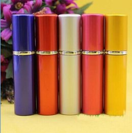 Wholesale 5ml Mini Portable Refillable Perfume Atomizer Colorful Spray Bottle Empty Perfume Bottles fashion Perfume Bottle