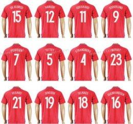 Wholesale 2016 Norway Soccer Jersey DIOMANDE PEDERSEN Football Shirt JOHANSEN GULBRANDSEN GROGAARD BERGET HANSEN VEGARD HOGLI