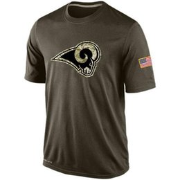 Wholesale Rams T Shirts cheap rugby football jerseys Los Angeles Salute To Service Banner Wave Tshirts freeshipping