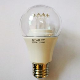 Wholesale 270 degree e27 LED Globe Bulbs W with with Aluminium Radiator and Clear PC Cover OED JCA60 W