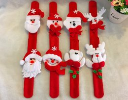 Wholesale 96pcs Stanta Claus Polar Bear Xmas Wristband Christmas Gift Wrist Strap Plush Toys Christams Tree Decoration Ornament