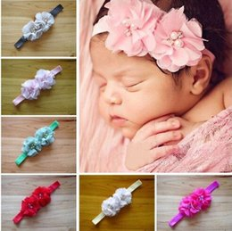 2016 Fashion newborn Girl Toddler Infant Elastic flowers Headbands Baby paerl Rhinestone headband Hair Band children girls hair Accessories