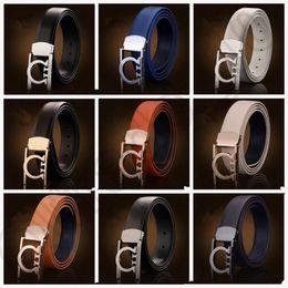 Cinturones de cuero en Línea-Los hombres correa de cuero de oro de la astilla de Smooth hebilla de la placa de negocios ocasional hebillas de cinturón 9 estilos LJJO825