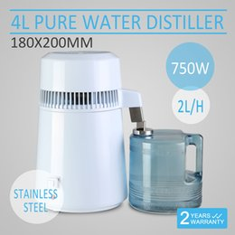 Wholesale 4L WATER DISTILLER PURIFIER Medical Pure Water Distiller All Stainless Steel Internal