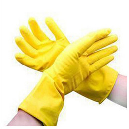 Dishwashing rubber gloves, latex gloves, Household waterproof laundry housework gloves Factory direct wholesale new hot