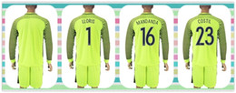 Wholesale New Product Uniforms Kit France European cup LLORIS MANDANDA COSTIL Soccer Jersey Goalkeeper Light Green Long Sleeve Jerseys