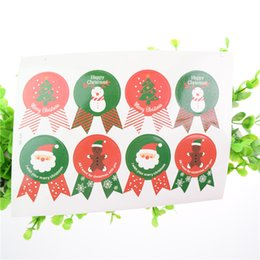 100pcs Stickers Christmas Tree Santa Claus Theme Sealing sticker DIY Gifts Creative Colourful posted Baking Decor label Baking